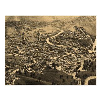 Carte imagée vintage de Lancaster NH (1883)