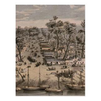 Carte imagée vintage de Sacramento (1850)