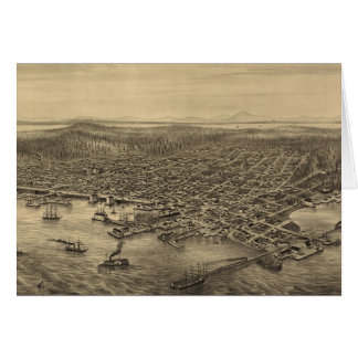 Carte imagée vintage de Seattle (1878)