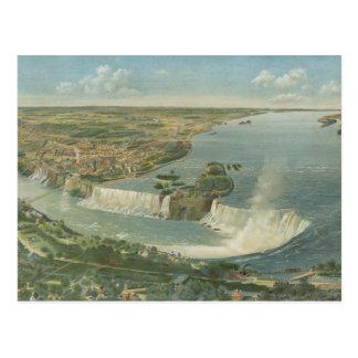 Carte imagée vintage des chutes du Niagara NY