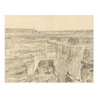 Carte imagée vintage du canyon grand (1895)