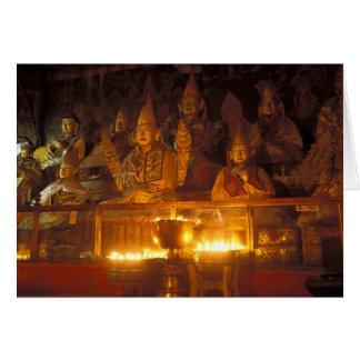 Carte Images des lamas au monastère de Sara, Lhasa,