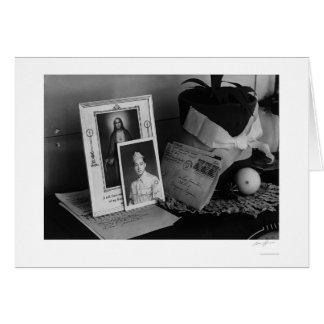 Carte Images et souvenirs, dessus de phonographe,