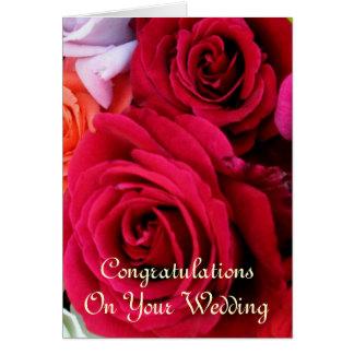 Carte imaginez épouser de roses