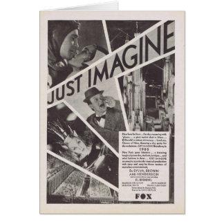 Carte Imaginez juste l'annonce de film