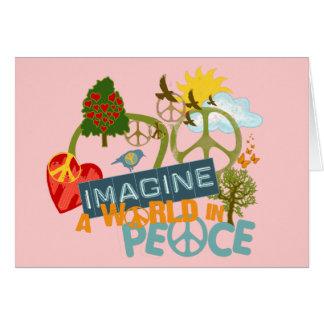 Carte Imaginez la paix du monde