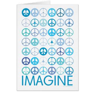 Carte IMAGINEZ - les signes de paix internationaux bleus