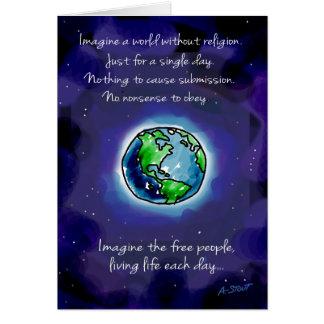 Carte Imaginez un monde sans religion