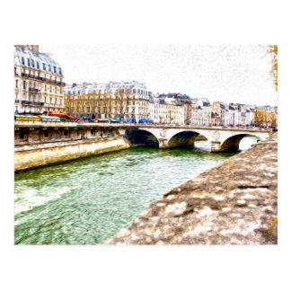 Carte impressionniste de style de Paris la Seine
