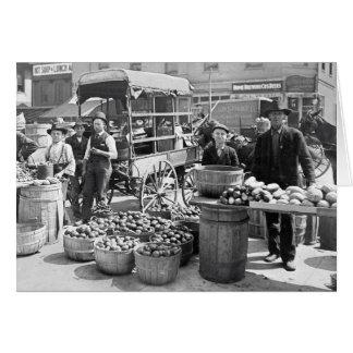 Carte Indianapolis Market végétal, 1908