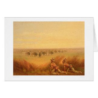 Carte Indiens rampant sur un troupeau de Buffalo (1907A)