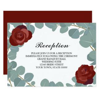 Carte Information rose de réception de mariage de