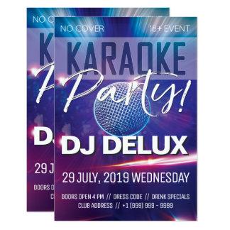 Carte Insecte de club de la partie | DJ | de karaoke