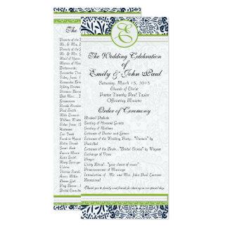 Carte Inséparables gris vert pomme de marine épousant