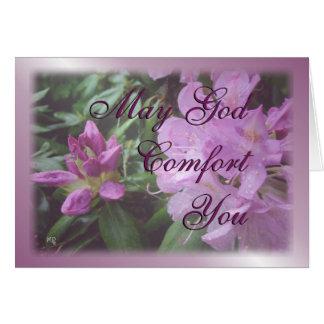 Carte inspiré-personnaliser de rhododendron