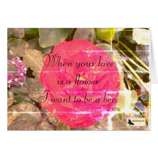 Carte inspirée - amour