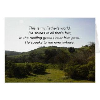 Carte inspirée : C'est le monde de mon père