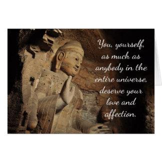 Carte inspirée de citation de Bouddha