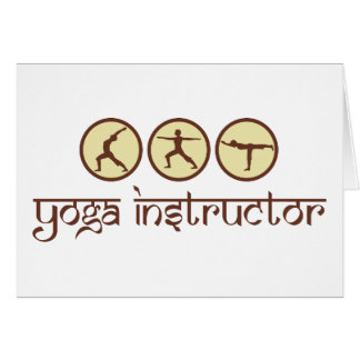 Carte Instructeur de yoga