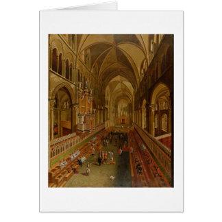 Carte Intérieur de la cathédrale de Cantorbéry,