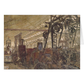 Carte Intérieur d'une usine de munitions, 1916-17