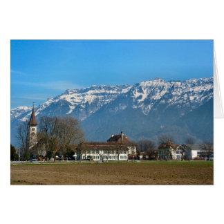 Carte Interlaken, église reformée et lycée