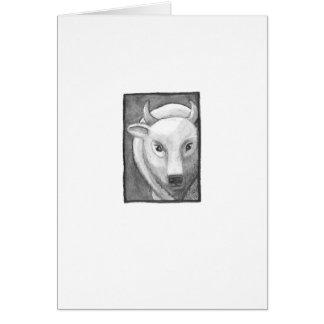 Carte Intitulé : Art minuscule #267 - buffle blanc