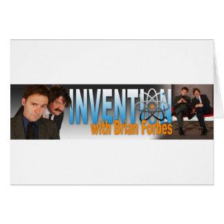 Carte Invention avec le logo de Brian Forbes