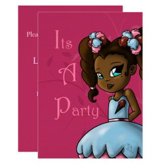 """Carte """"Invitation douce"""" """"5 x 7"""" d'anniversaire d'Ebonie"""