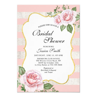 Carte invitation_pink nuptiale floral chic minable de