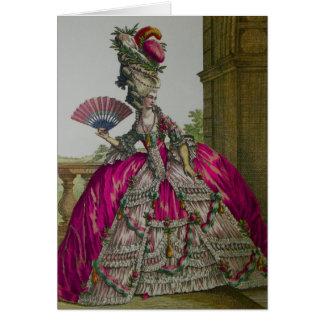 Carte/invitations de ~ de la Reine Marie Antoinett