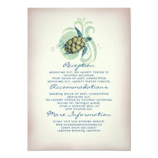 Carte Invité de l'information de mariage de tortue de
