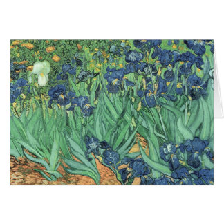 Carte Iris de Vincent van Gogh  , 1889