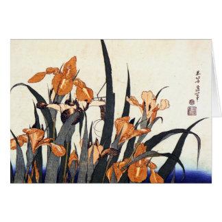 Carte Iris, Katsushika Hokusai