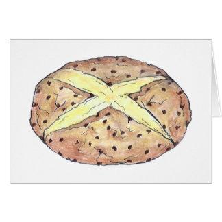 Carte irlandaise de pain de soude de saint du jour