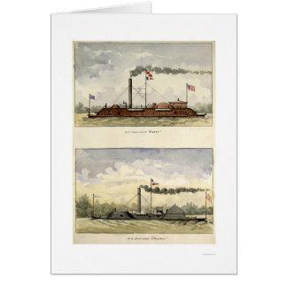 Carte Ironclads Essex et Choctaw par Stouffer 1864
