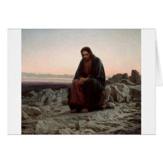 Carte Ivan Kramskoy- le Christ dans la région sauvage -
