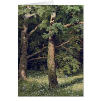 Carte Ivan Shishkin la clairière de forêt
