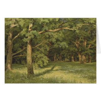 Carte Ivan Shiskin la forêt dégageant CC0451