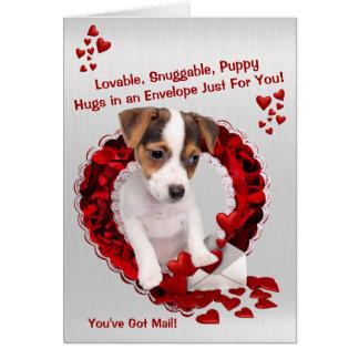 Carte Jack Russell vous avez des étreintes Valentine de