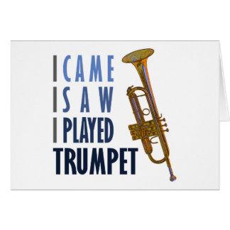Carte J'ai joué la trompette