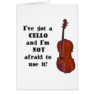 Carte J'ai un violoncelle
