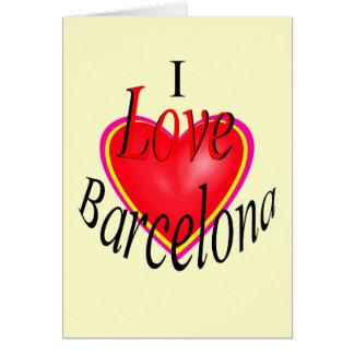 Carte J'aime Barcelone !