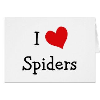 Carte J'aime des araignées