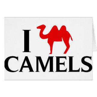 Carte J'aime des chameaux