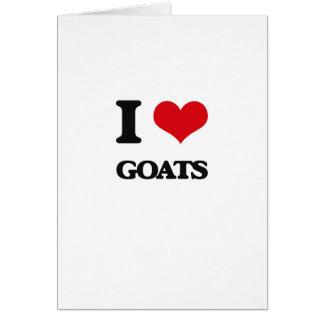 Carte J'aime des chèvres