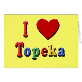 Carte J'aime des T-shirts de TOPEKA, voyage des tasses,