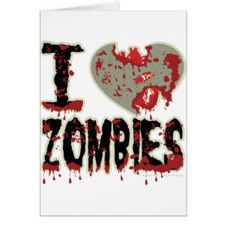 Carte J'aime des zombis