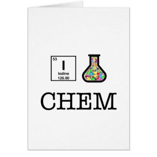 Carte J'aime la chimie