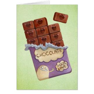 Carte J'aime le chocolat